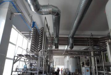 Montarea ventilației pentru Fabrica de Lapte